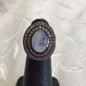 Clyde Duneier CID Sterling Multi Stone Ring